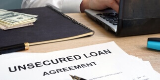 What is an unsecured loan?