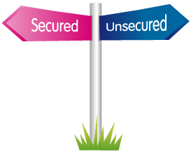 What is the difference between Secured or unsecured loans?
